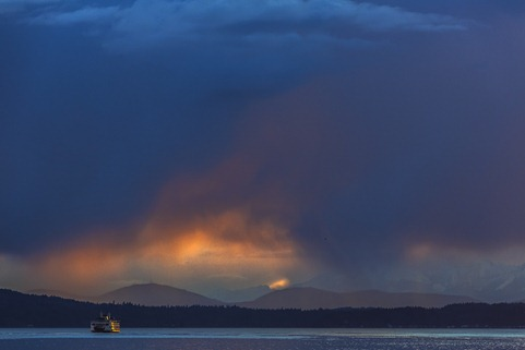 94C0008_Ferry and Evening Stormcloud