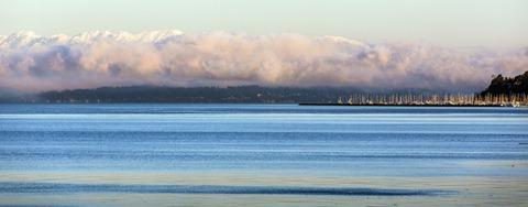 94C0494_Mountains-Clouds-Shilshole Marina PANO