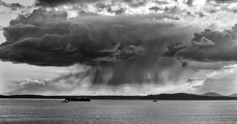 94C9612_Raincloud Tugboats Cargo Ship-BW