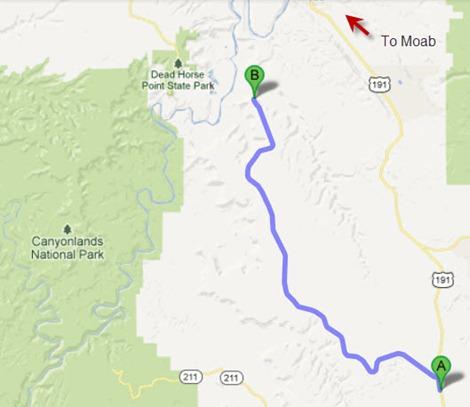 Anticline Overlook Map