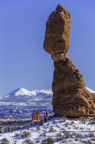 Balanced Rock In The Snow