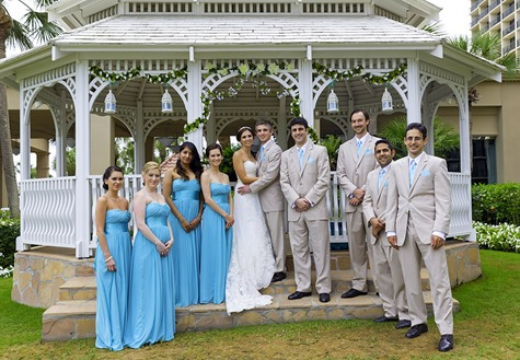 Bridal Party At The Gazebo
