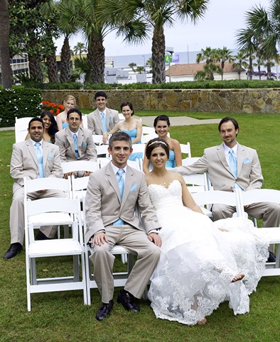 Bridal Party On White Chairs