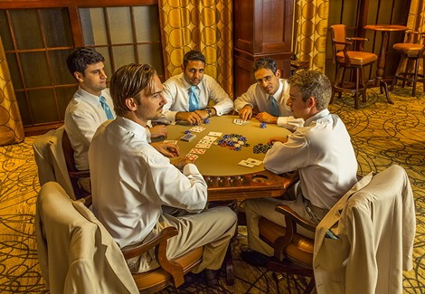 Groomsmen At The Poker Table
