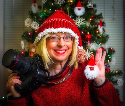 Christmas Camera Becky Ornament