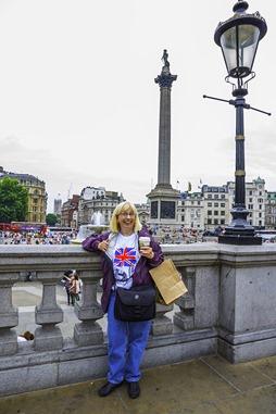 Becky At Trafalgar Square