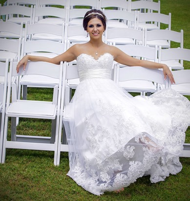 Bride Relaxing On The Chairs