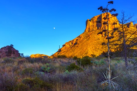 Casa Grande and A Gibbous Moon