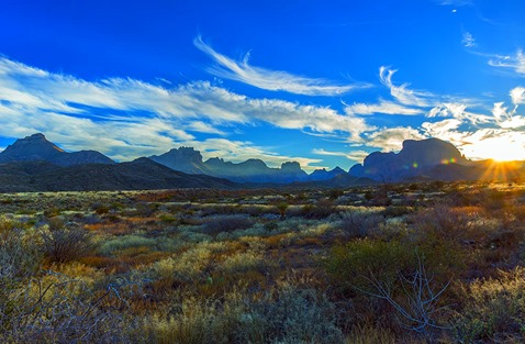 Sunset Over The Chisos Mountains