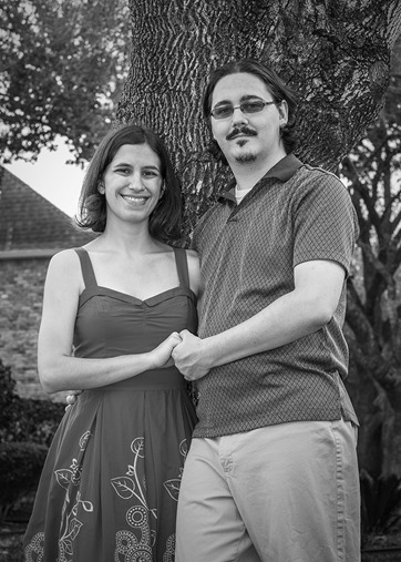 Adrienne and Kyle - Tree BW