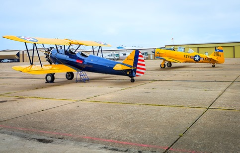 A Stearman and A Texan