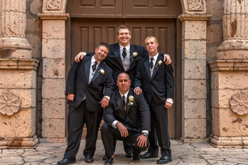 Groom and Groomsmen - Alamo