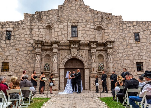 The Ceremony at The Alamo