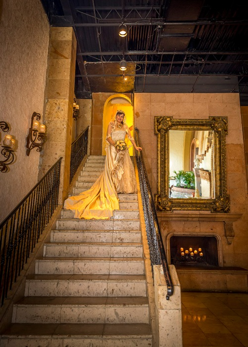 The Bride OnThe Stairs