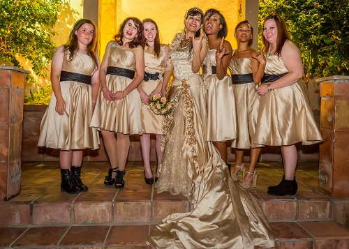 Levity with the Bride and Bridesmaids