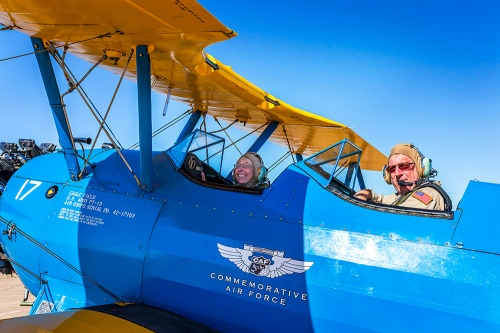 Becky and Bill in the Stearman