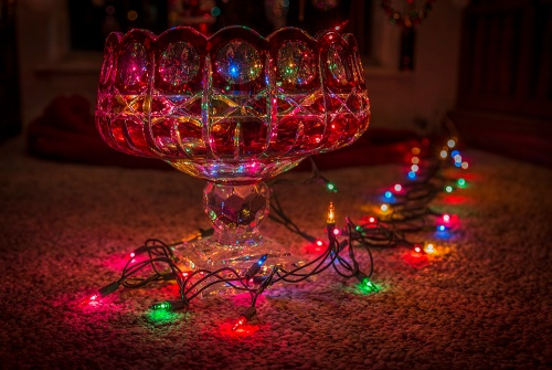 Czech Glass and Christmas Lights