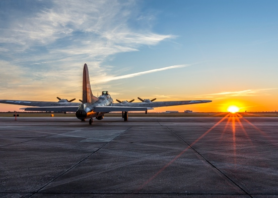 Sunrise on the B17G Texas Raiders