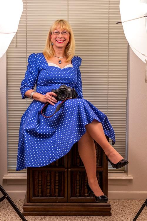 Becky In A Blue Dress