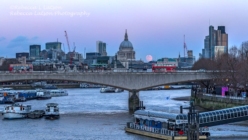 Full Moon And Blue Hour Over The Thames 2 CROP