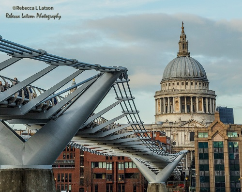 The Millennium Bridge And St Pauls Cathedral