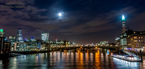 Full Moon Over The Thames