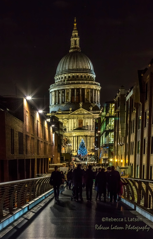 Night View Of St Paul Cathedral