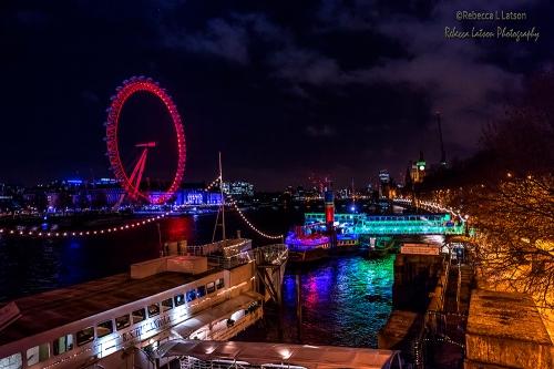Night View From Jubilee Bridge