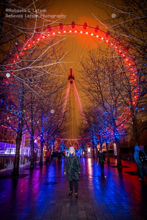Becky At The London Eye In The Rain