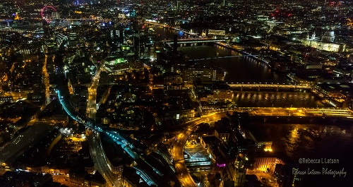 Night View From The Shard Looking West