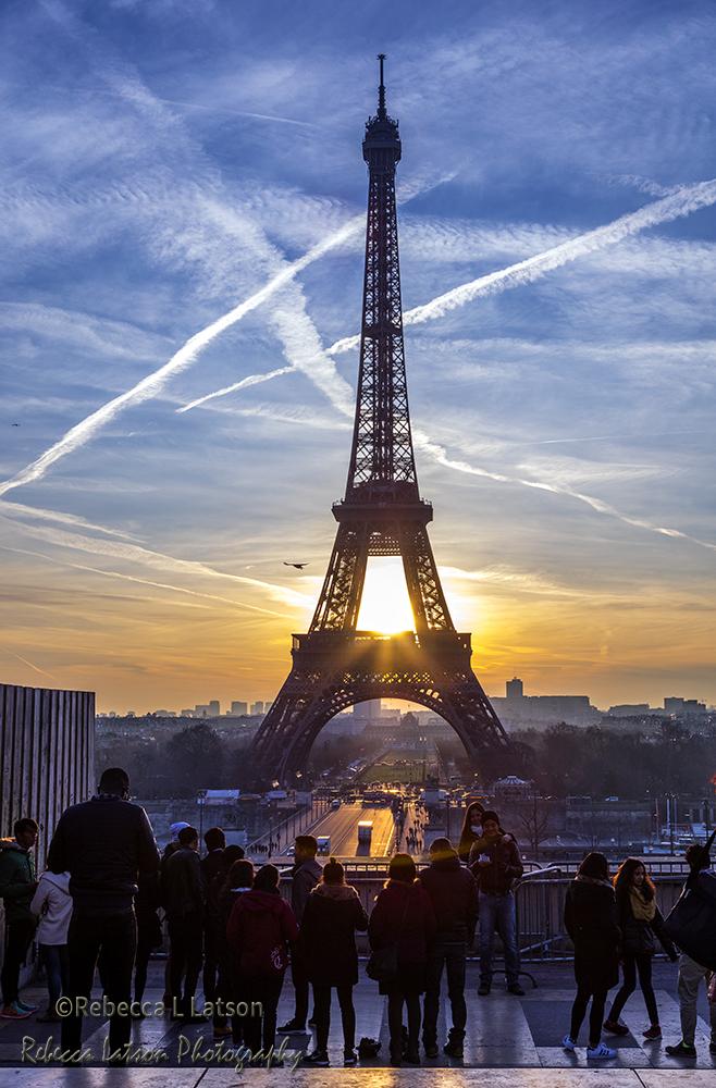 Enjoying The View At The Trocadero