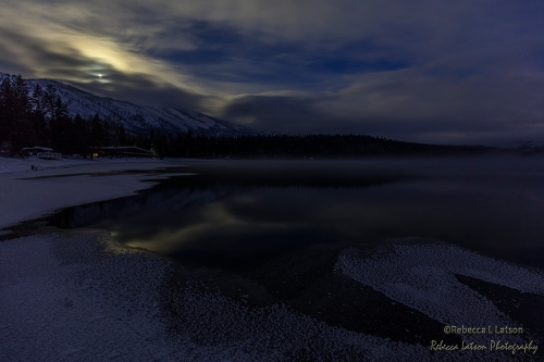 Moonset On Lake McDonald