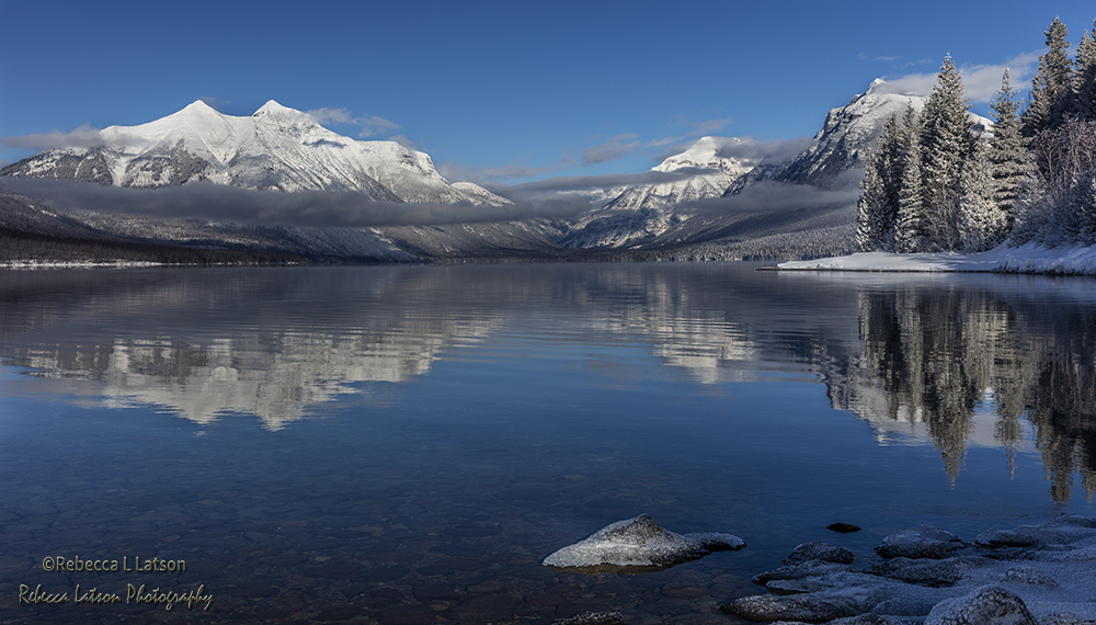 Lake McDonald Winter Reflections