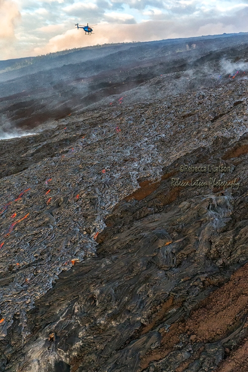 Flying Over The Lava Flow