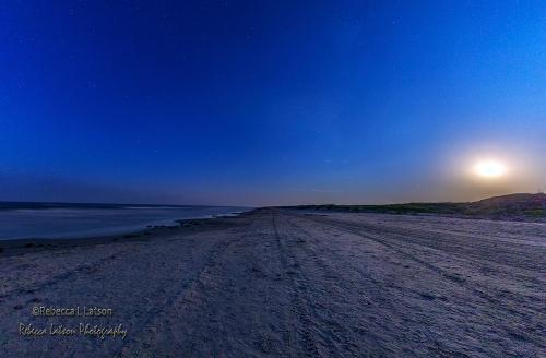 Moon Sky Stars Sand