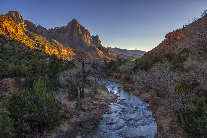 Winter Sunset Over The Watchman