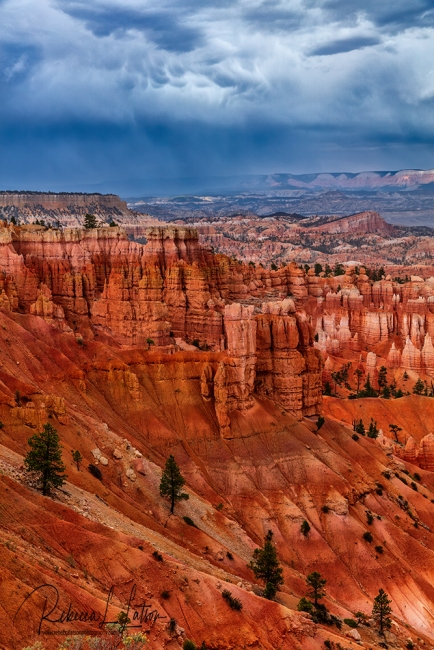 Monsoon Rains Over Bryce Amphitheater