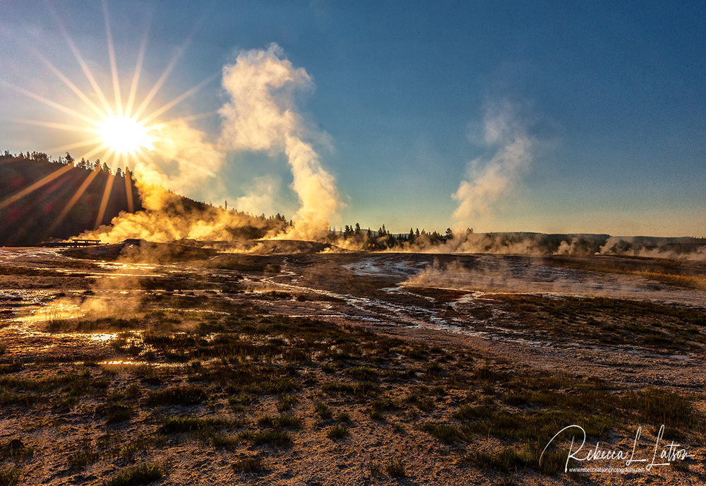 Sunrise Over Upper Geyser Basin