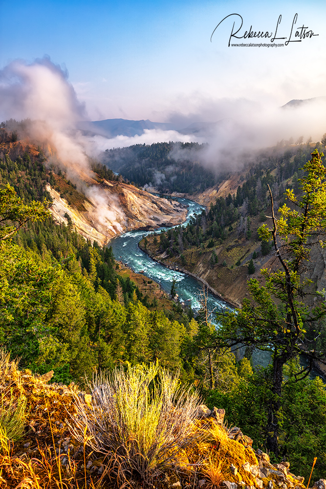Calcite Springs And The Yellowstone River