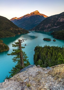 Sunrise Over Davis Peak And Diablo Lake