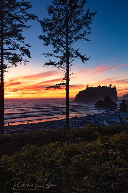 A Sunset View Of Ruby Beach