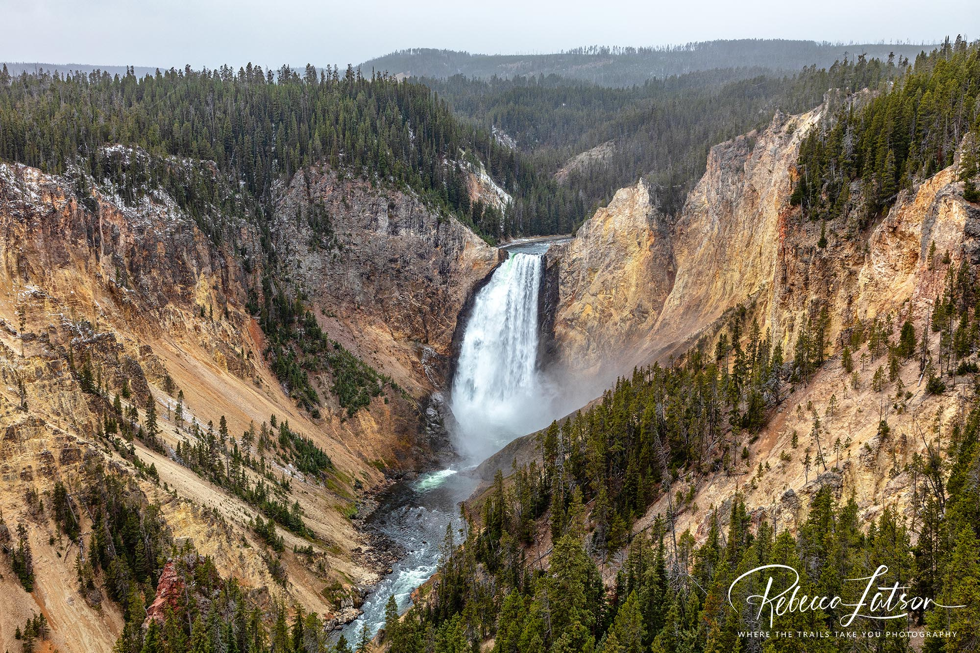 Lower Falls On A Stormy Autumn Midmorning
