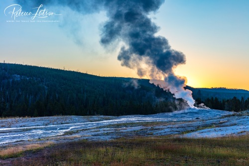A Chilly Morning At The Upper Geyser Basin