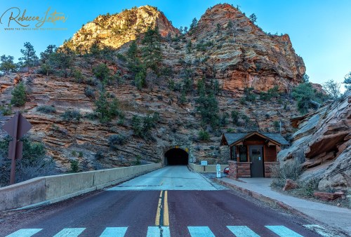 Zion-Mount Carmel Tunnel Entrance - Ground Level View