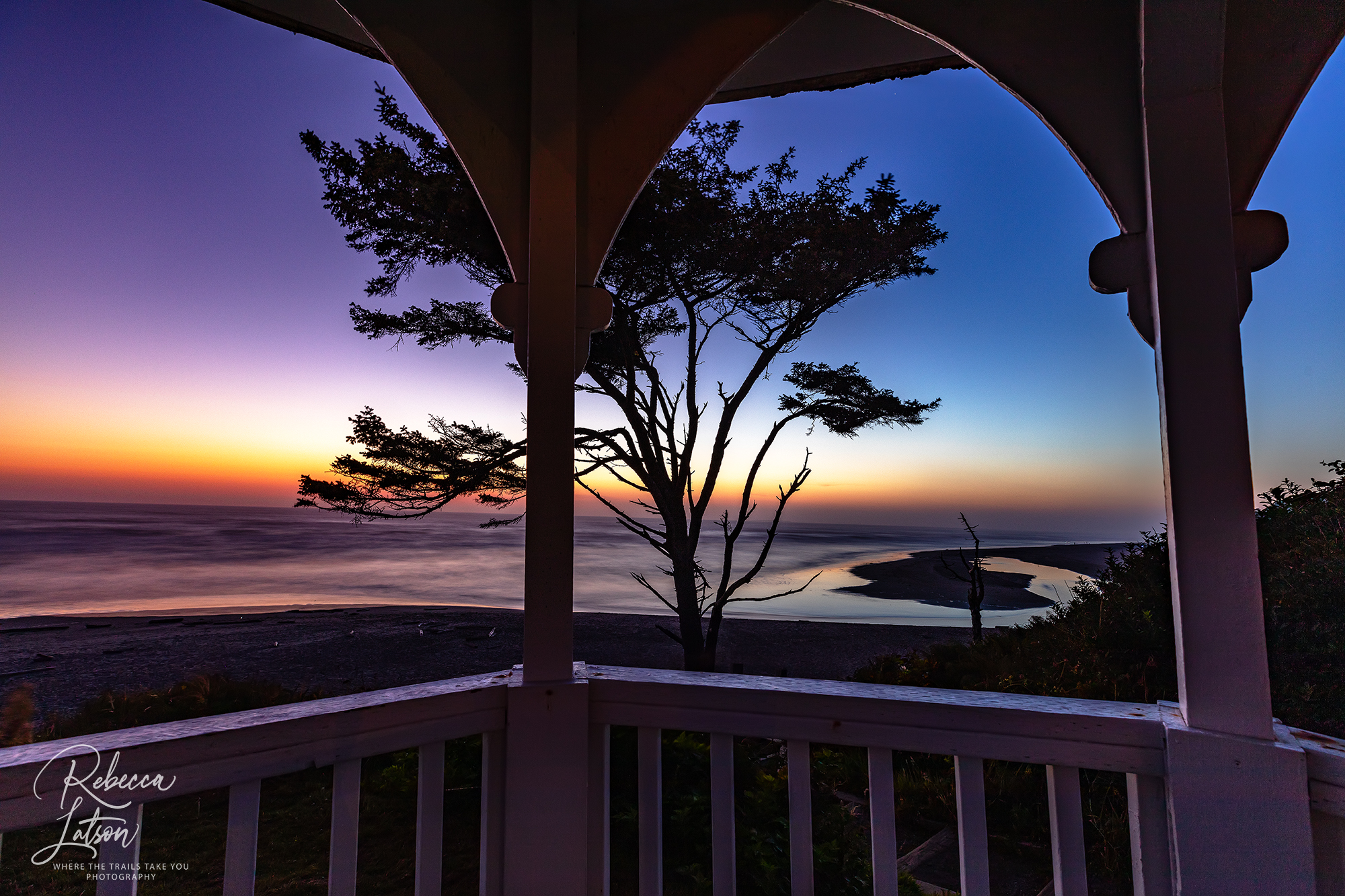 The Evening View From The Gazebo