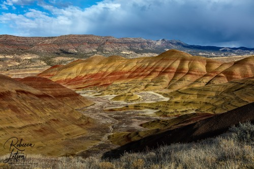 Late Afternoon Storm Clouds And Sunlight Over The Painted Hills