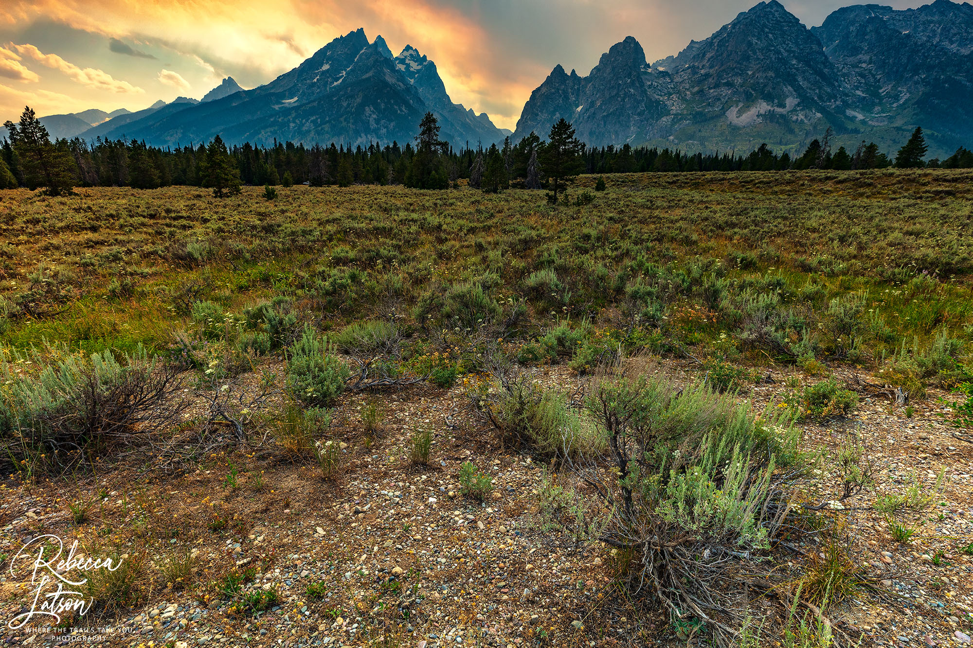 A Smoky Afternoon In The Grand Tetons