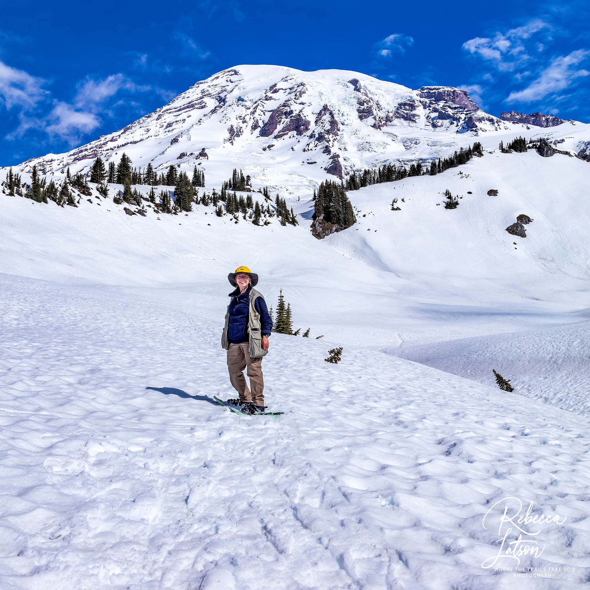 A Little Spring Snowshoeing For Becky CROP