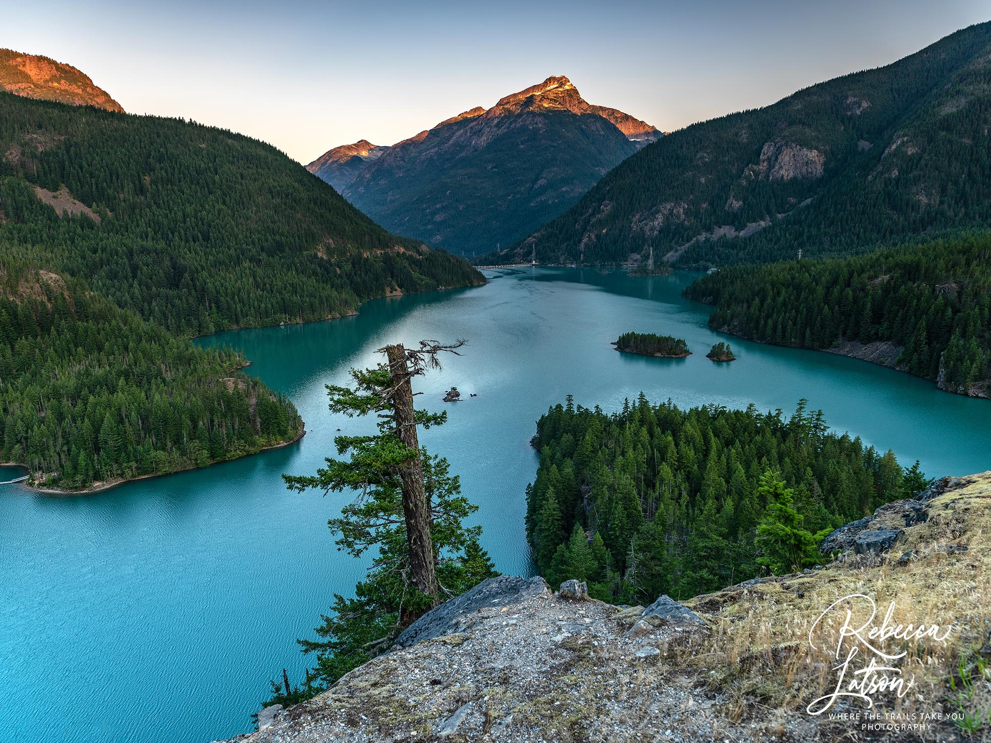Sunrise Over Diablo Lake