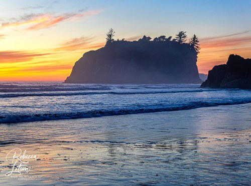 Sunset scenery at Ruby Beach